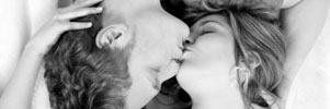 couple kissing sensually